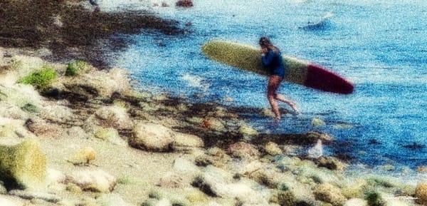surf, womenwhosurf, longboards, courage, bravery, song, withheart, jackierobbinsstudio, photographicprints, buyartonline
