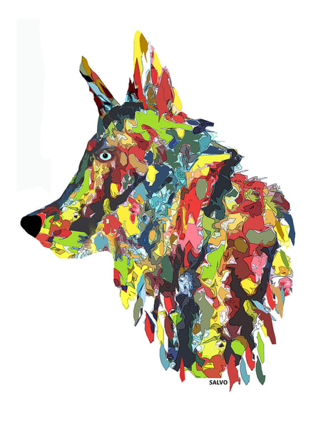 J Salvo   Colorful Canine Art | Branson West Art Gallery - Mary Phillip