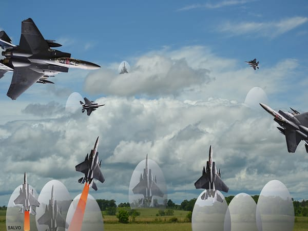 J Salvo   Hatching F 15 S For Launch Art | Branson West Art Gallery - Mary Phillip