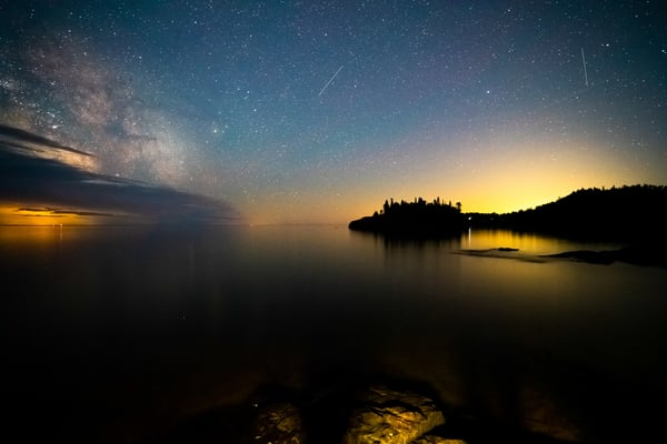 Ellingson Island And The Milky Way   Scenic Wall Mural Photography Art | William Drew Photography