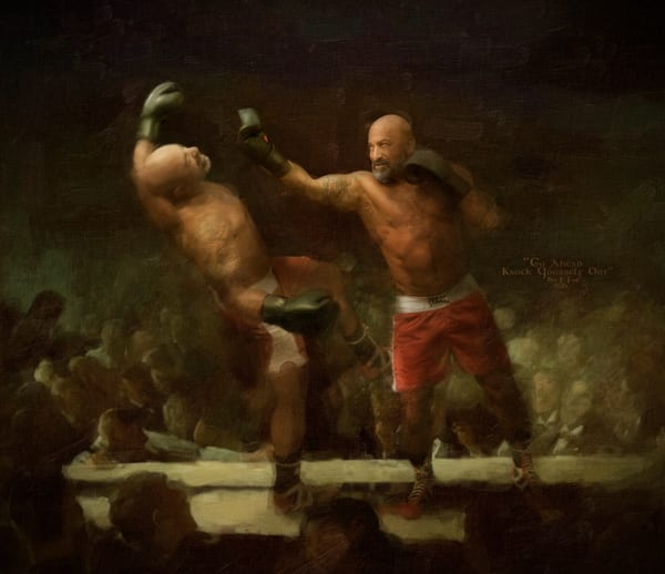 Go ahead knock yourself out, Limited Edition, Art Prints, Ben fink,