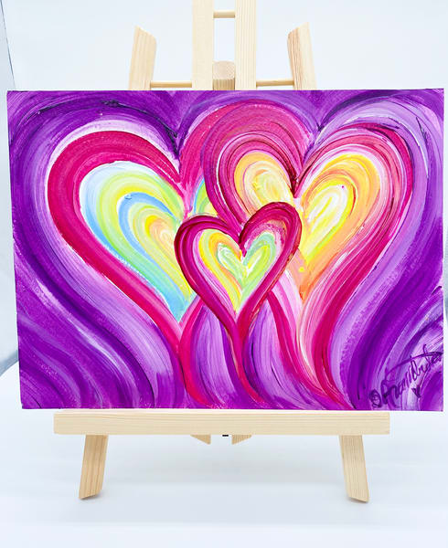 Purple Power Of Three  Art | Heartworks Studio Inc