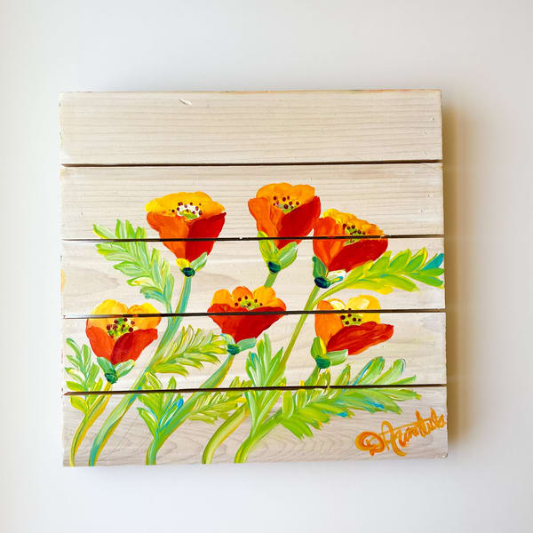 Dancing Poppies  Art | Heartworks Studio Inc