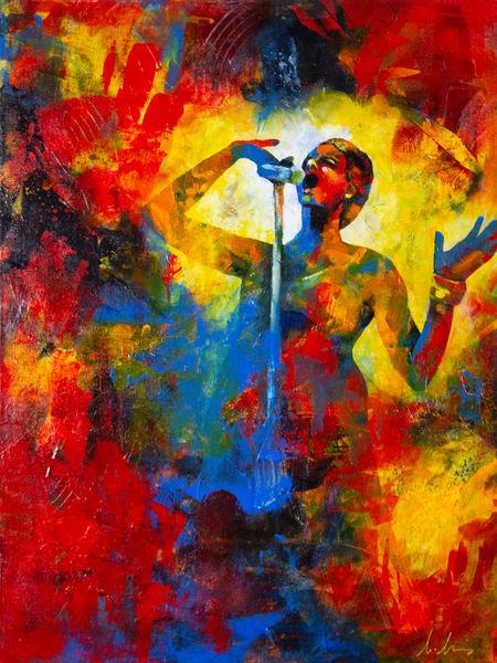 Singing The Blues Art | Marianne Morris Art