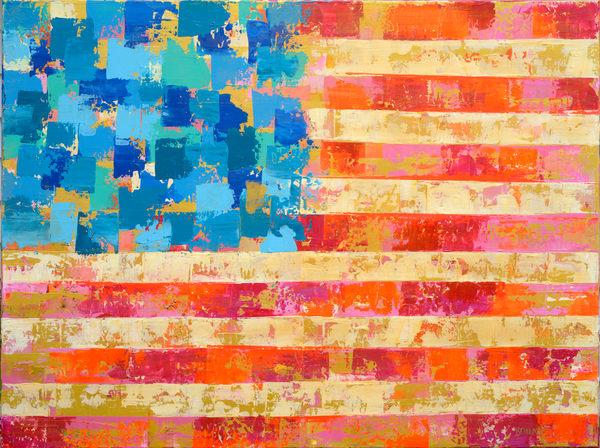 American Flag Bright  Art | benbonart