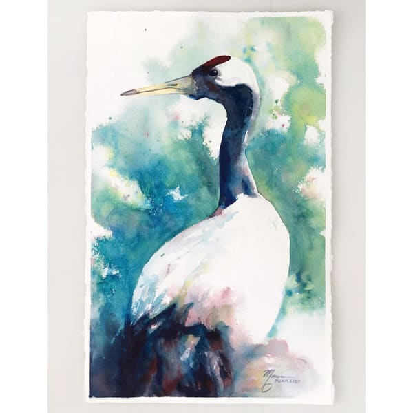 Red Crowned Crane Study Art | Marian Pham Art LLC