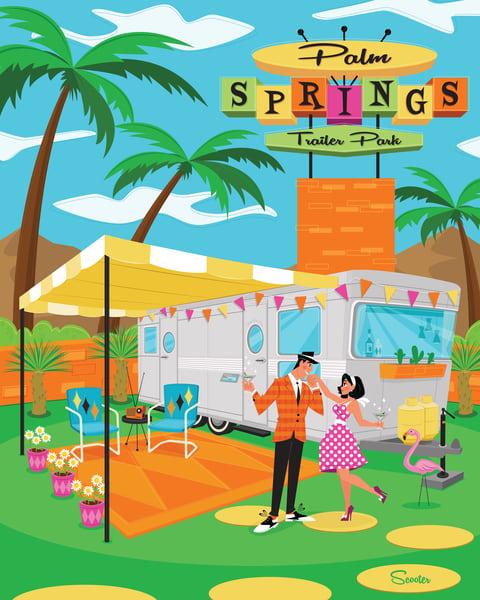 Palm Springs Trailer Park Print