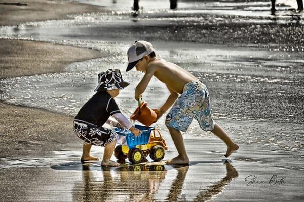 Boys On The Beach  Art | Sharon Beth