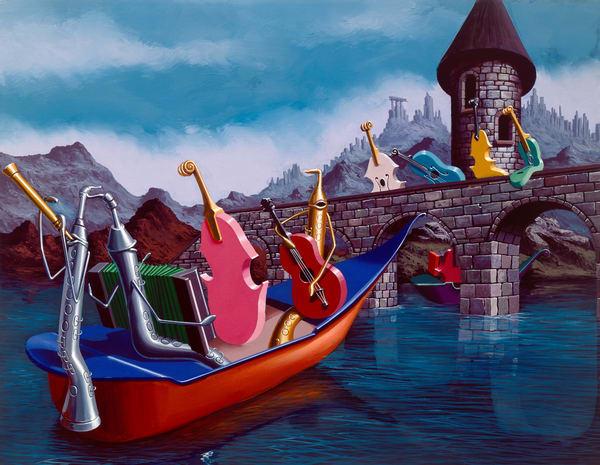 The Boys Of The Gondola Art   Moshe Volcovich