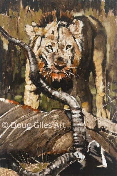 Lion Over Kudu Kill Art | Doug Giles Art, LLC