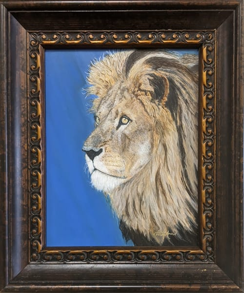 Patricia Stanley Horn - original artwork - nature - animals - lion - Lion of Judah's Victory