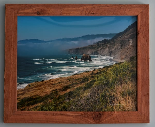 Pacific Ocean Overlook   Custom Cedar Frame | N2 the Woods Photography