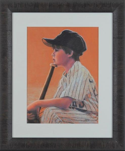 Kay Ridge - original artwork - children - baseball - little boy - Hope