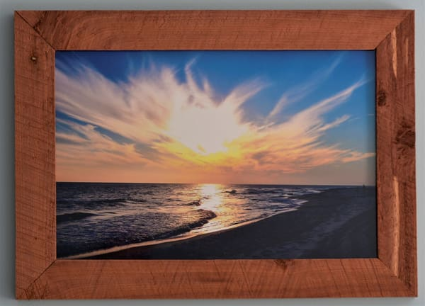 Gulf Shores At Sunset Custom Cedar Frame | N2 the Woods Photography