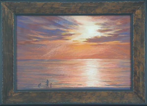 Kay Ridge - original artwork - nature - sunset - lake - Great Lakes Sundown