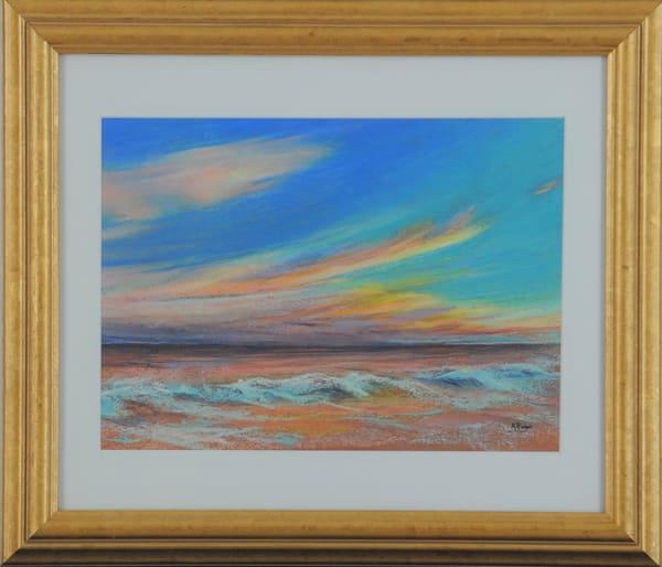 Kay Ridge - original artwork - nature - sunset - ocean - October Sundown
