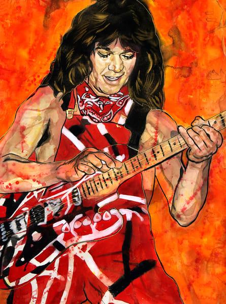 Eddie Van Halen Lf  Art | William K. Stidham - heART Art