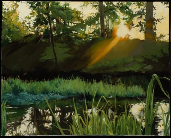 Early Morning On The Flint River Art   Helen Vaughn Fine Art