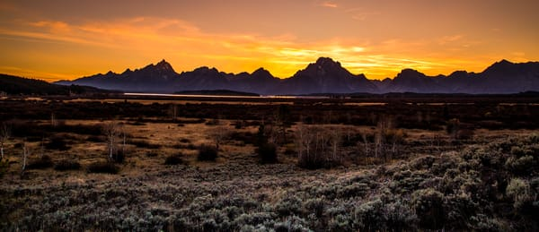 Photography of sunset In Grand Teton National Park