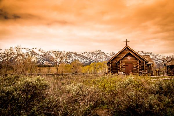 The Chapel of the Transfiguration inside Grand Teton National Park.