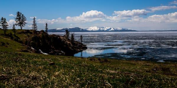 Icy Lake Yellowstone Art