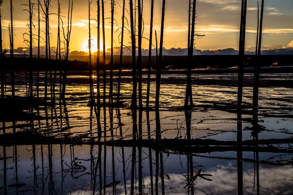 Sunset Picture at Black Sand Basin Yellowstone
