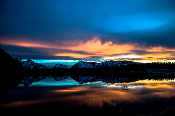 Jackson Lake Sunset Grand Teton