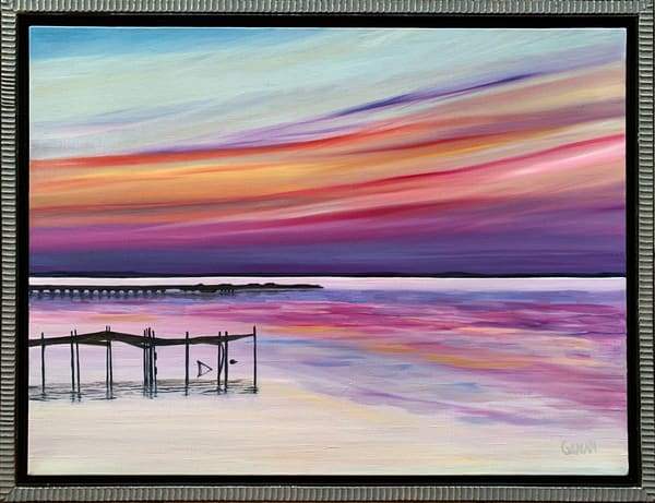 """Chesapeake Sunset"" Original Artwork by Emily Gilman Beezley"