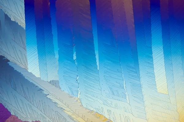 Blue Caffeine (Caffeine Crystals) Art | Carol Roullard Art