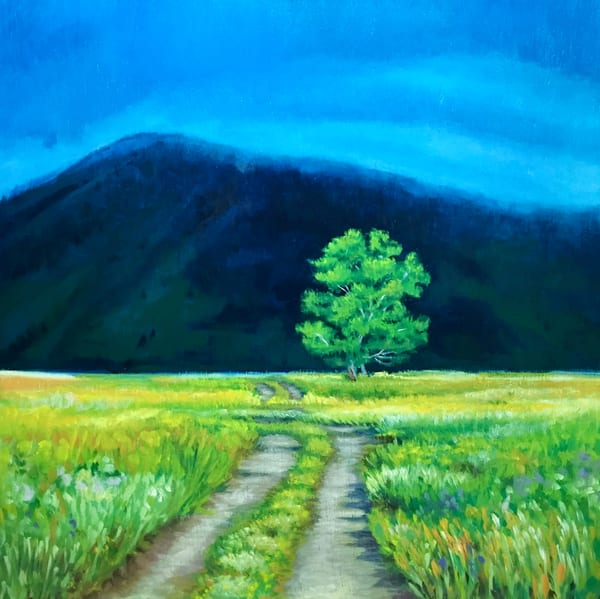 Country Road to the Unknown Original Romantic Landscape Painting