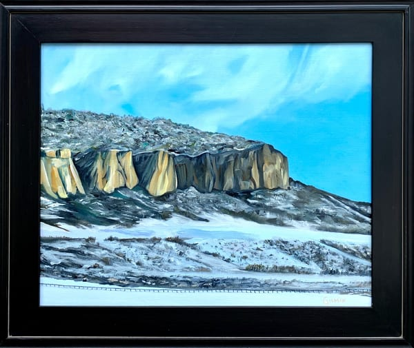 Rocky Outcropping Colorado Landscape Original Oil Painting