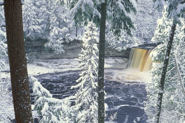 Tahquamenon Falls Michigan In Winter Photography Art | Gone Wild Wandering