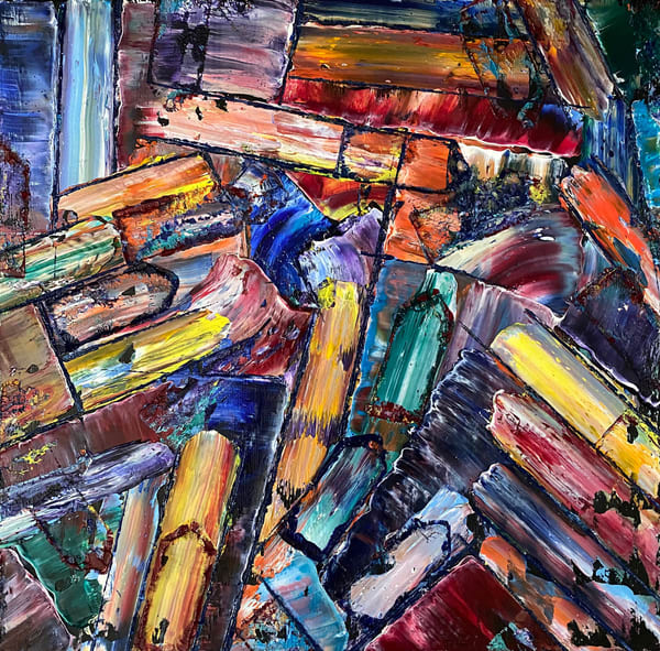 Mastermind abstract PMS oil painting