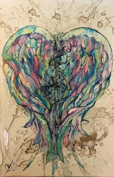 Rainbow Angel Wings Art | Christy! Studios