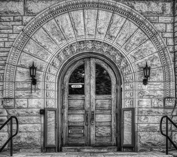 Library Door, Wheaton, 2018