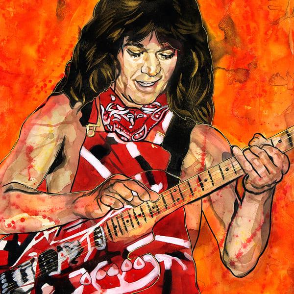 Eddie Van Halen Lf Coaster Art | William K. Stidham - heART Art
