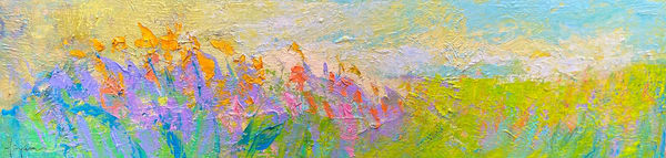 Long Horizontal Abstract Painting, Original Art by  Dorothy Fagan