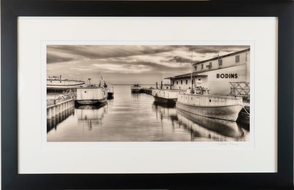 Bodins Bayfield, WI, fine art print, framed in black wood,