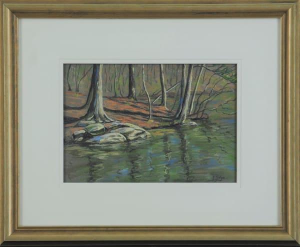 Kay Ridge - original artwork - nature - autumn - lake - Quiet Cove Stone Mountain Lake