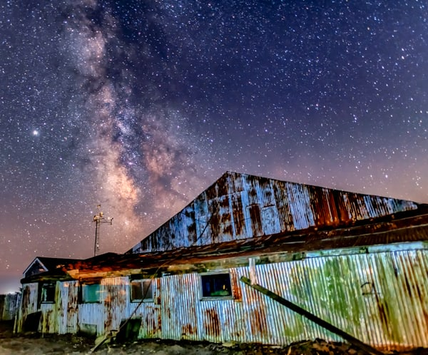 Katama Airfield Hangar Milky Way Art | Michael Blanchard Inspirational Photography - Crossroads Gallery