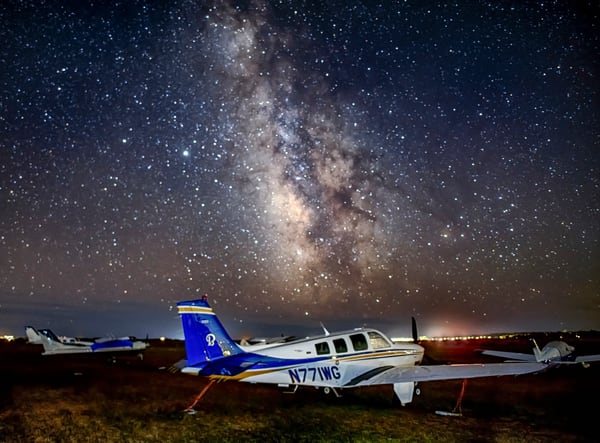 Katama Airfield Milky Way Art | Michael Blanchard Inspirational Photography - Crossroads Gallery