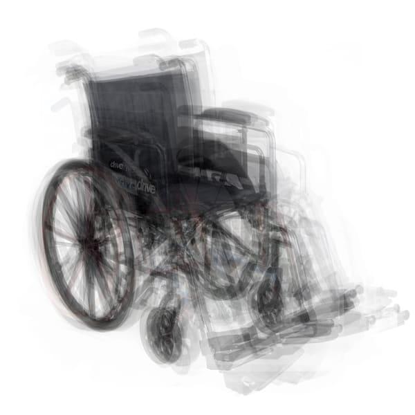 Overlay art – contemporary fine art prints of a wheelchair