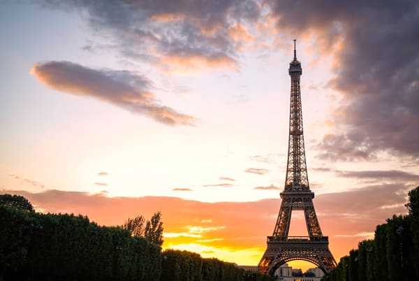 Eiffel Tower At Sunset