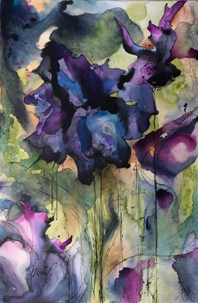 Black Iris Garden Art | Christy! Studios