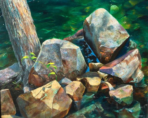 Golden Rocks Art | MANTHA DESIGN