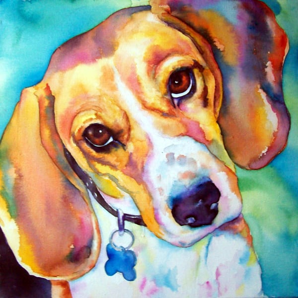 Dog Custom Portrait Art | Christy! Studios