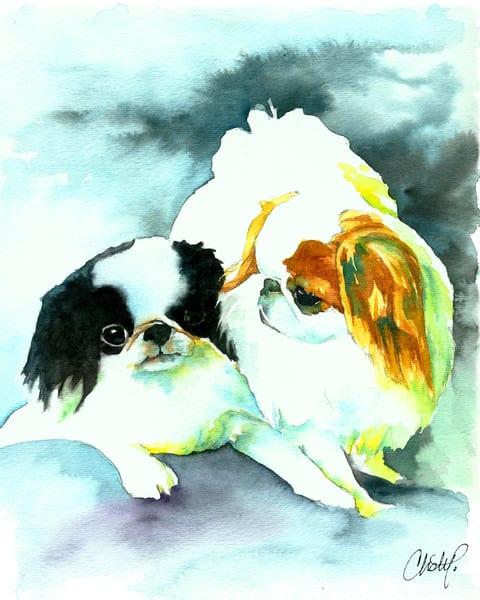 Japanese Chin Dogs Art | Christy! Studios