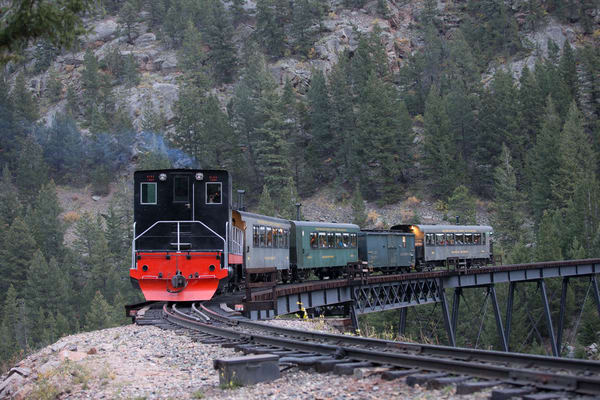 Colorado Train In Georgetown Santa Express