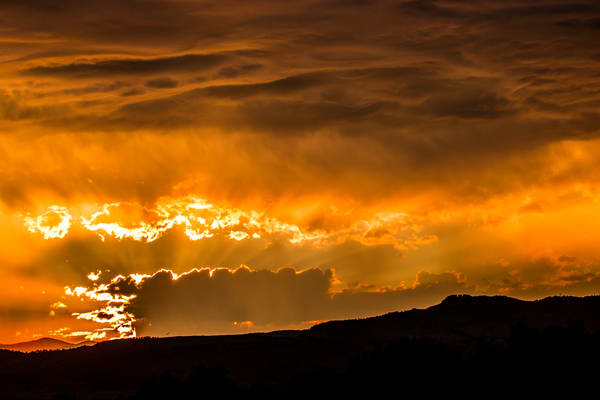 Photograph of Horsetooth Rock Fort Collins Colorado Sunset