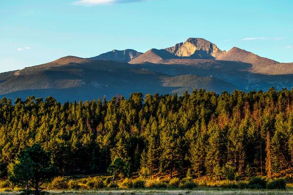 Longs Peak Estes Park Rocky Mountain National Park